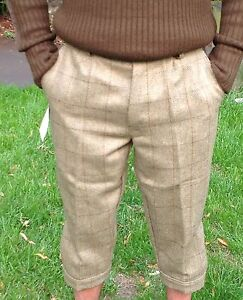 Mens Derby Tweed Breeks Plus Fours Breeches Country Wear 2 Cols Trousers  30-46