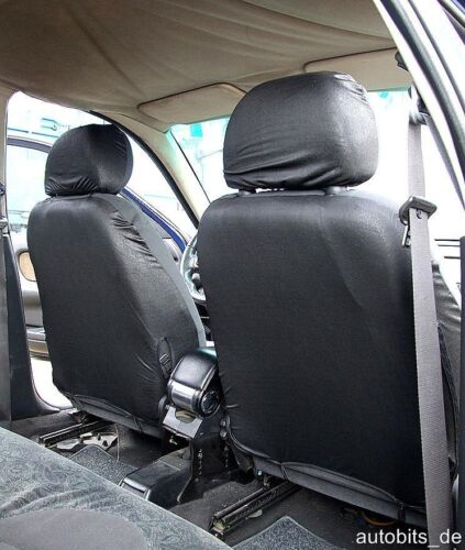 2 funda de asiento delantero fundas para asientos ya referencias set rojo negro para BMW OPEL FORD kia
