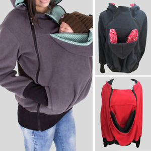 Mom S Maternity Kangaroo Hoodie Mum Dad Baby Wrap Carrier Pet Holder