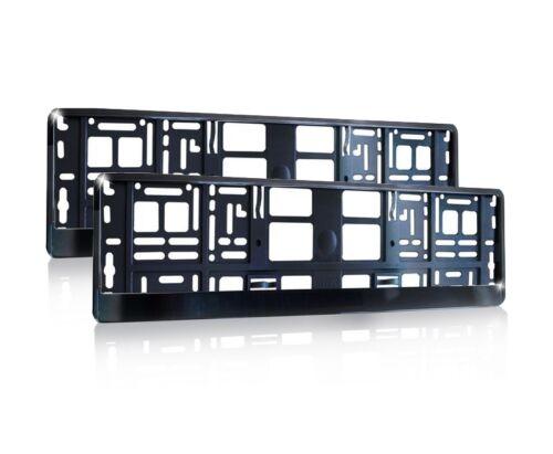 2x Kennzeichenhalter in schwarz hochglanz Kennzeichenhalterung Halter BL1