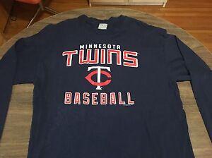 Minnesota-Twins-XL-Long-Sleeve-Shirt-MLB-Baseball-Authentic-Minneapolis-St-Paul