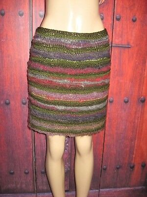 Skirts Energetic Women's Knit Skirt Multi Color Homemade Size S/m Modern Design Clothing, Shoes & Accessories
