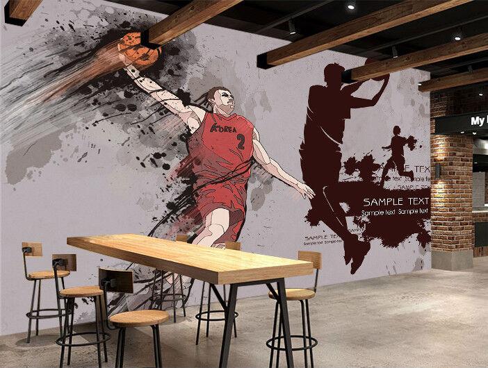 3D Basketballwand 577 Tapete Tapeten Mauer Foto Familie Tapete Wandgemälde DE