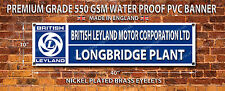 BRITISH LEYLAND WATERPROOF 550GSM GRADE PVC BANNER.GARAGE,WORKSHOP BANNER