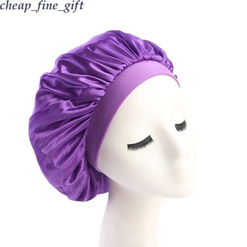 2Pcs Baby Mommy Satin Sleep Nightcap Bonnet Head Cover Turban Elastic Beanie Hat