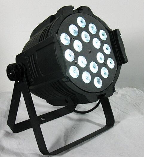 2pc 18X12W RGBWA 5in1 Tri LED PAR Light QUAD LED PAR64 DMX Bühnenbeleuchtung