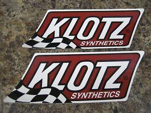 2 Klotz Synthetics 9 Quot X3 5 Quot Sticker Decal New Mint Atv
