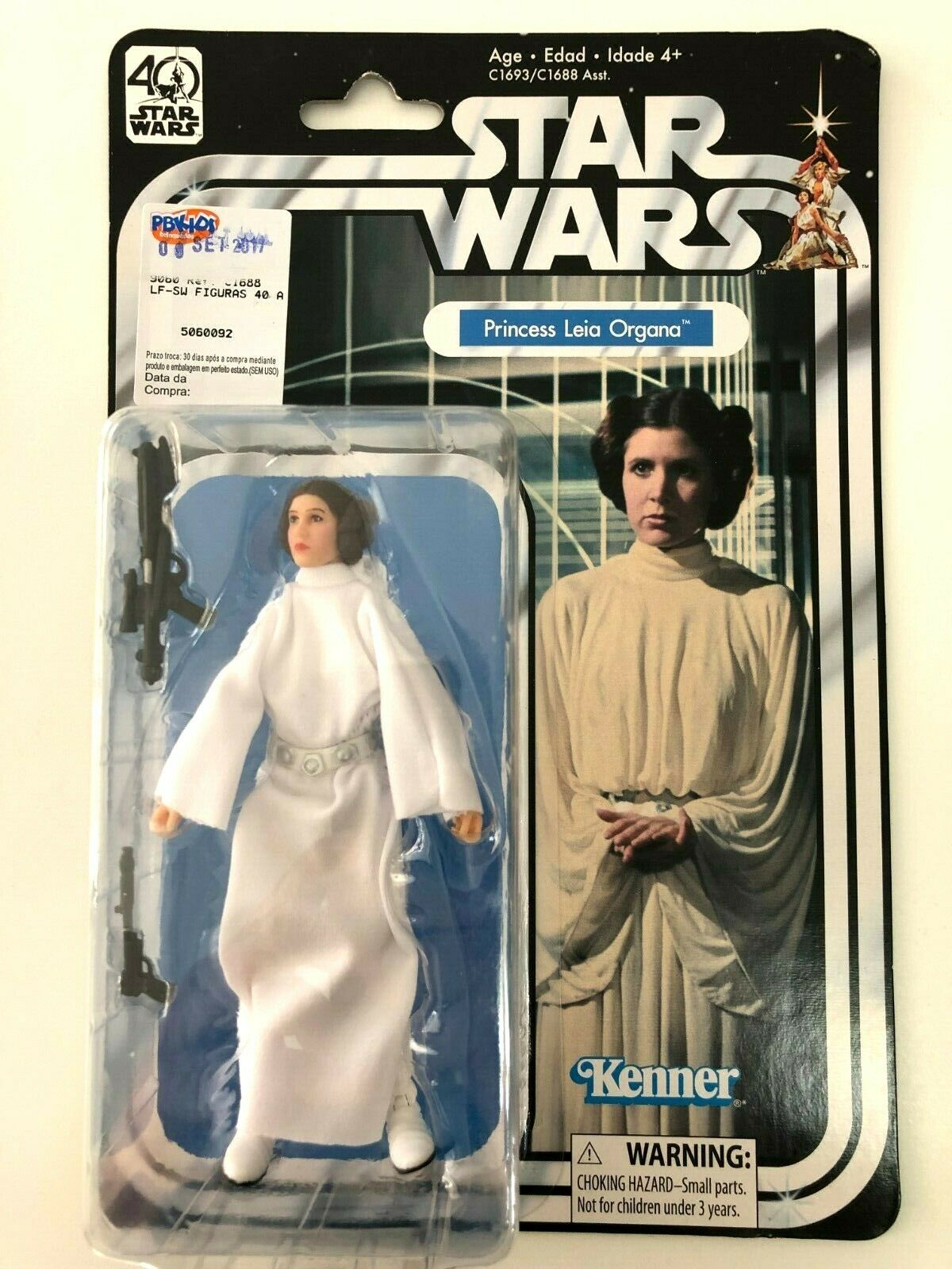 STAR STAR STAR WARS  -  PRINCESS LEA ORGANA   ACTION FIGURE  40 YEARS   -  NEW & RARE d1882d
