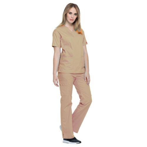Dickies Scrubs Set EDS SIGNATURE Womens V-Neck Top Cargo Pant 86706//86206 Petite