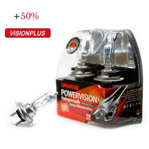 2-x-H7-Birnen-PX26d-Halogen-Lampen-Gluehbirne-55W-Vision-Plus-12V