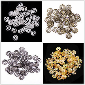 Lots-500pcs-6mm-Metal-Flower-Bead-Caps-Silver-Gold-Plated-Jewelry-Findings