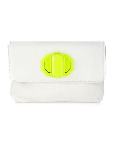 Deux Lux Handbag-Jules Neon Turn-Lock Clutch Bag Orange//Pink White//Yellow NWOT