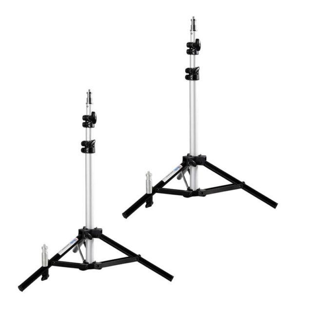 2x METTLE Studiostativ Bodenstativ 100 cm Fotostudio-Lampen-Stativ mit 2x Spigot