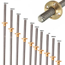 Stainless Steel 8mm T8 Lead Screw With Brass Nut For 3d Printer Linear Slide Screw