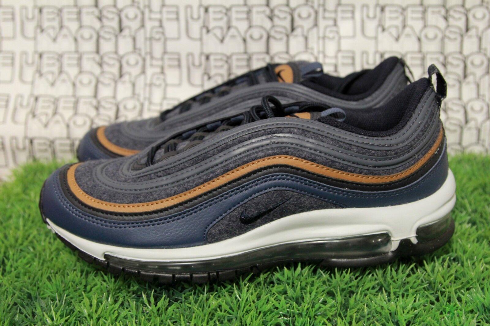 Nike air max 97 premio qs lana blu 312834 / marina / brown 312834 blu 400 biancastro 90 uomini 8,5 d6611d