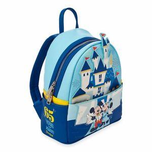 Disney Mickey & Minnie Mini Backpack Loungefly Disneyland 65th Anniversary *NEW*
