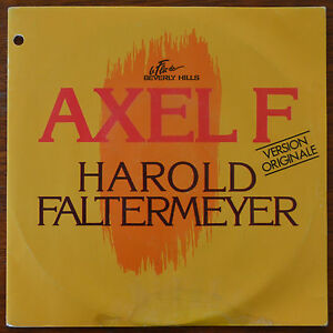 "Harold Faltermeyer Axel F 7"" 1984 MCA Records 259074-7 French Pressing – VG+"