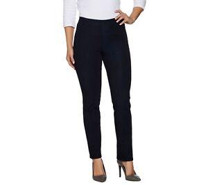 Isaac-Mizrahi-Petite-24-7-Denim-Straight-Leg-Jeans-Pant-Dark-Indigo-14P-Size-QVC