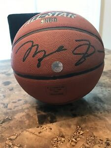 new product 9d84c 6eaf3 Details about MICHAEL JORDAN AUTOGRAPHED OFFICIAL SPALDING BASKETBALL All  STAR SIGNED WithCOA