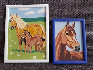 Details Zu 2 Pferdebilder Gemalt Nach Malen Nach Zahlen Pferde Pony Bilder Handgemalt