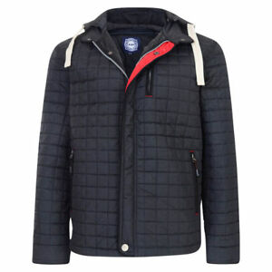 2ba6b684d New Men's MENS Quilted Winter Jacket coat Hood BIG Tall 2XL 3XL 4XL ...
