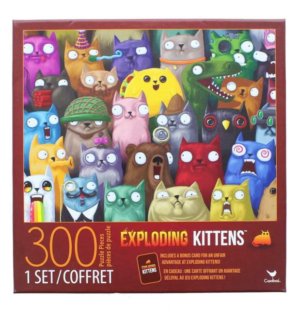 Cardinal 300 Pc Jigsaw Puzzle Exploding Kittens For Sale Online Ebay