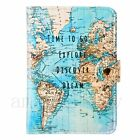 Flamingo Passport Holder Cover Luggage World Map Address ID Holiday Tags