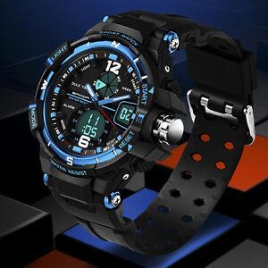 Fashion-Men-Digital-Sports-Military-Date-WATERPROOF-Analog-Quartz-Wrist-Watch