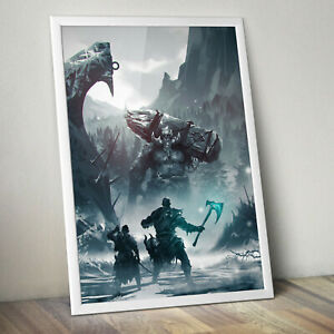 GOD-OF-WAR-4-KRATOS-Gaming-Video-Game-Poster-Print-A4-A3-A3-FRAME-OPTIONS