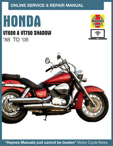 2005 Honda Shadow Aero 750 Haynes Online Repair Manual Select