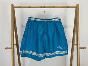 RARE-VTG-Umbro-Men-039-s-Bold-Teal-Soccer-Futbol-Shorts-Size-L-USA-EUC