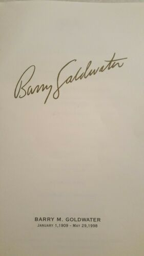 Senator Barry Goldwater Funeral Program Arizona State University 1998