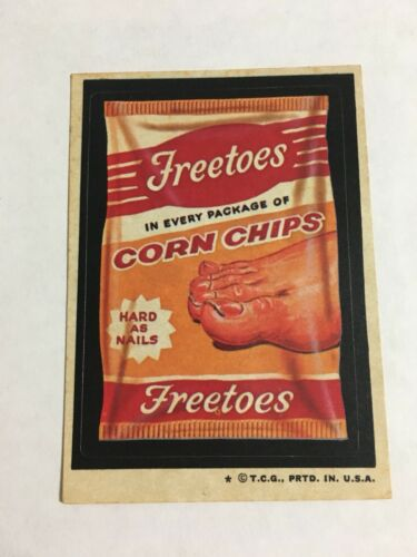 1974 Topps Wacky Packages Freetoes Corn Chips Card Tan Back