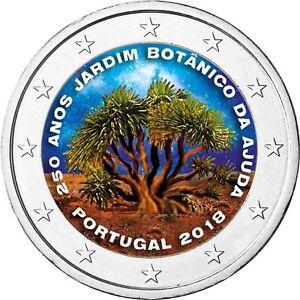 Portugal-2-Euro-2018-Botanischer-Garten-Ajuda-in-Farbe