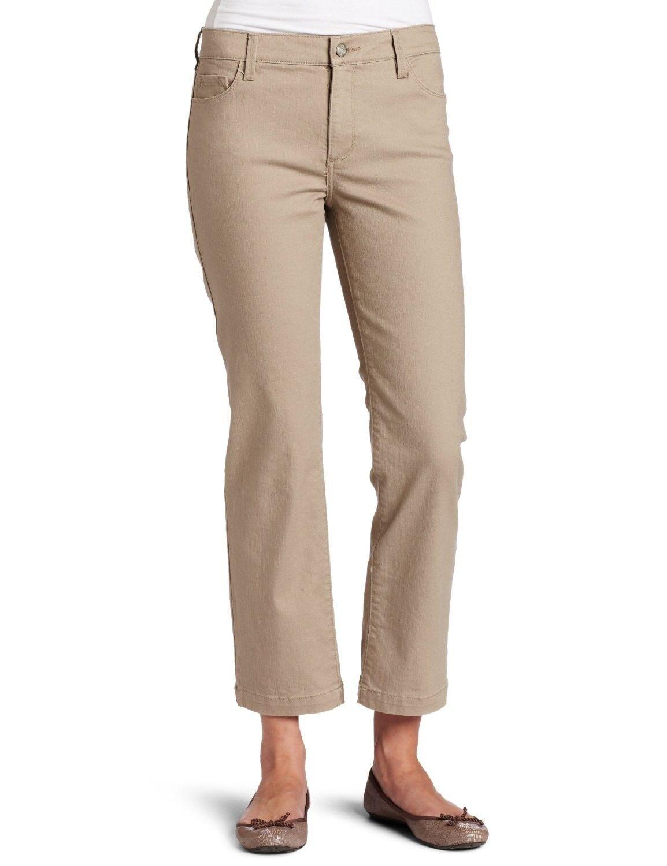 Nouveau NYDJ Pas Votre Daughters Jeans Pantalon Audrey Cheville Champignon kaki 6P petite