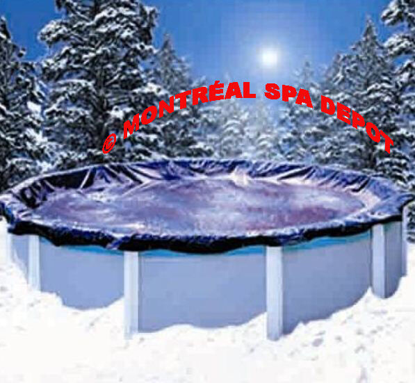 WINTER COVER DELUXE for above ground pool, round 24' w/ ratchet & cable system