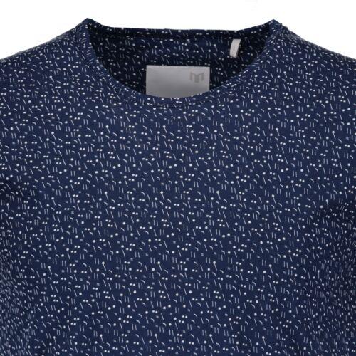 BNWT minimum Danemark Homme Canyon Sombre Iris Coton Tee T-Shirt Medium