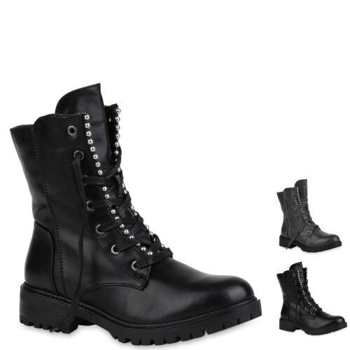 Damen Stiefeletten Schnürstiefeletten Leicht Gefütterte Stiefel 897276 New Look