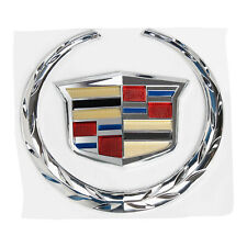 For Cadillac Front Grille 6 Emblem Hood Badge Logo Chrome Color Symbol Ornament Fits 2010 Cadillac Cts