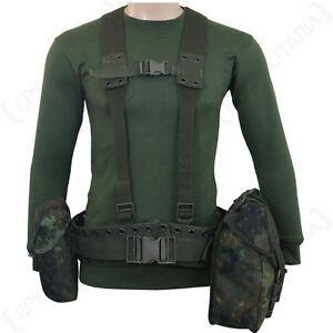 Original-German-Army-Flecktarn-Webbing-Rig-5-Piece-Surplus-Set-Pouches-Soldier