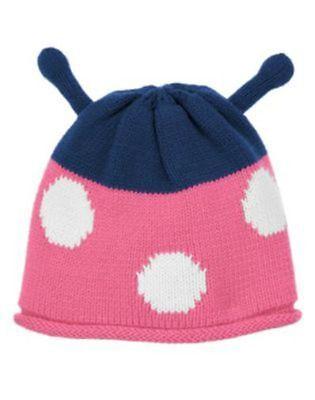 NWT 12-24 Months Gymboree SMART LITTLE LADY Sweater Hat Ladybug Antennae