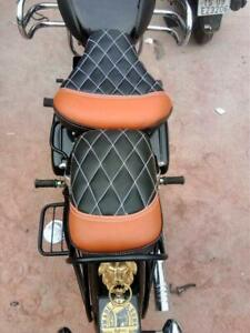 Fine Details About Royal Enfield Classic 350 500 Split Seat Cover Black Brown With White Diamond Evergreenethics Interior Chair Design Evergreenethicsorg