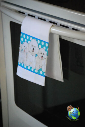 Bichon Frise Kitchen Hand Towel