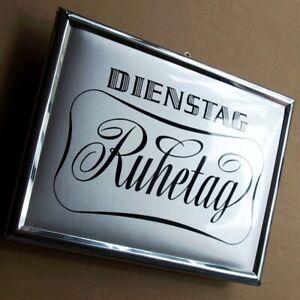 DIENSTAG-RUHETAG-Altes-Imoglasschild-um-1960-TRAUMZUSTAND-Wirtshaus-Gasthof-TOPP
