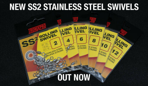 Tronixpro SS2 Super Strong Rolling Swivels 100/% marine grade stainless Steel