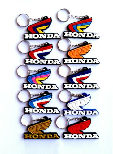 Classic For HONDA Wing Motorcycle Keychain Key Ring Rubber Collectables Gift