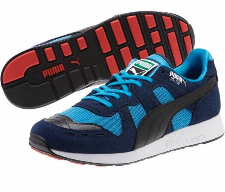 NIB Men's PUMA size 9.5 RS-100 core sneakers Peacoat 369662-01