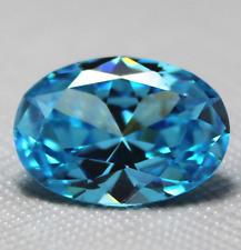 14.38CT 13x18mm Oval Blue Cut Unheated Sapphire Loose Gemstone Zircon Decor Gem