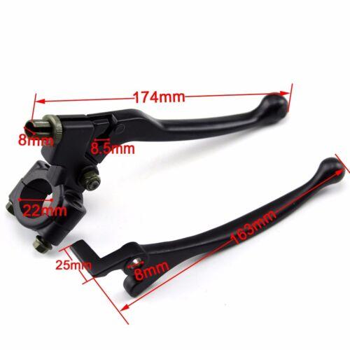 "Folding Front Brake /& Clutch Lever Set 22mm 7//8/"" Trail Pit Dirt Bike Handlebar"