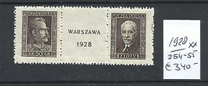 Poland-1928-Pair-from-sheet-320-00-Mnh-WV-943